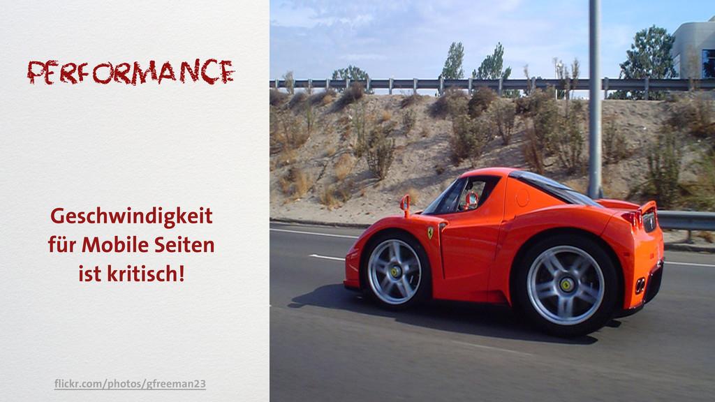 performancE Geschwindigkeit für Mobile Seiten i...