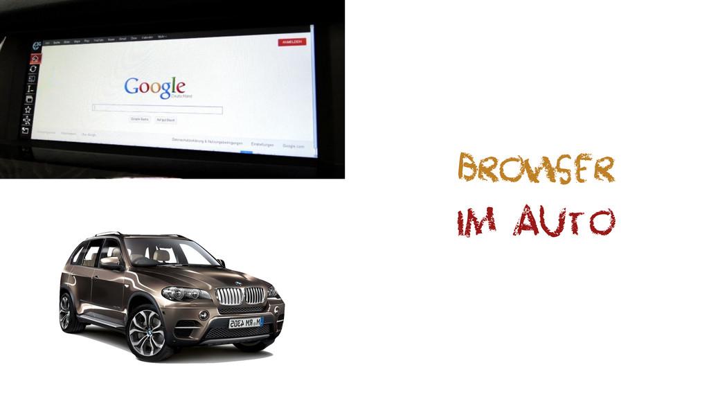 Browser im Auto