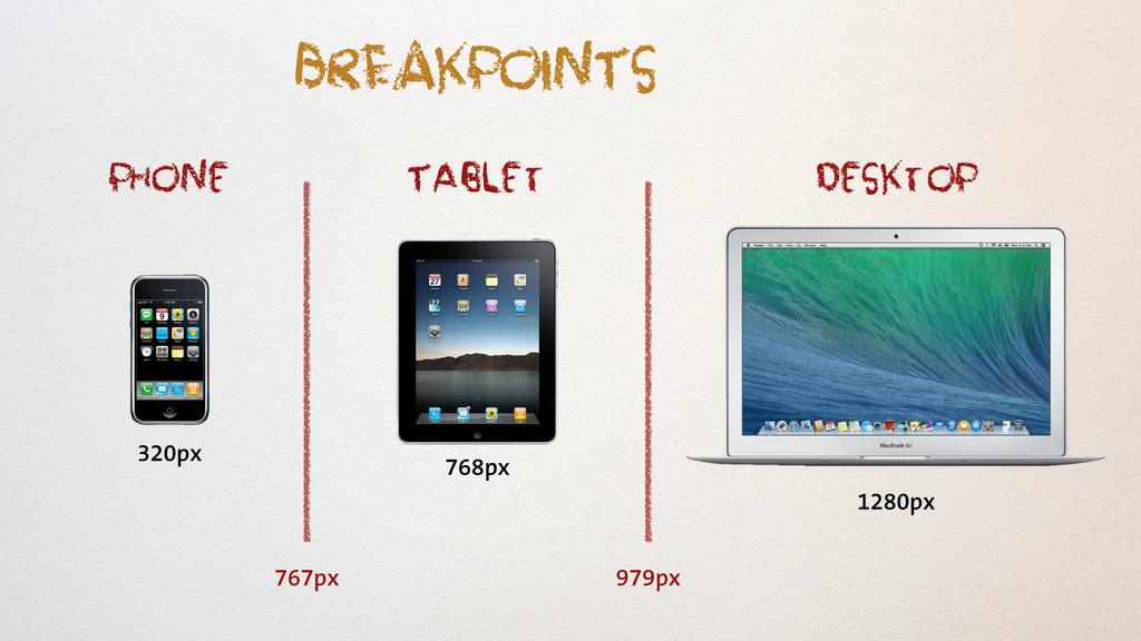 Tablet phone Desktop 320px 768px 1280px 767px 9...