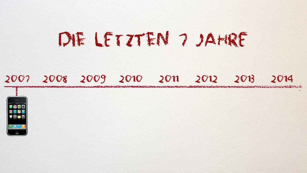 diE letzTEn 7 jahRe 2007 2009 2008 2010 2011 20...