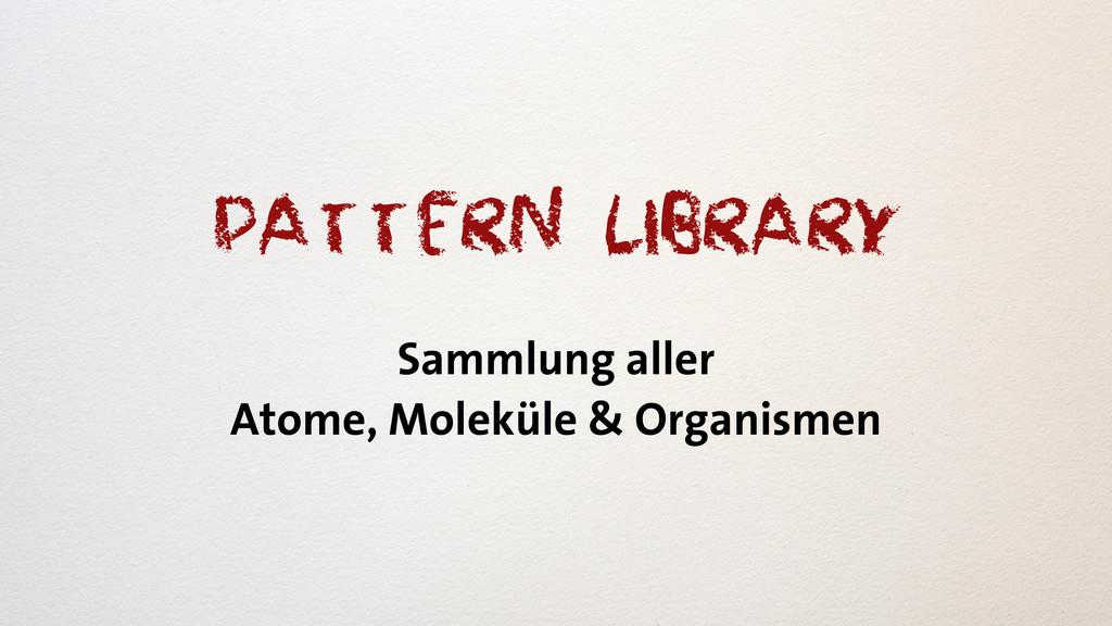 Pattern Library Sammlung aller Atome, Moleküle ...