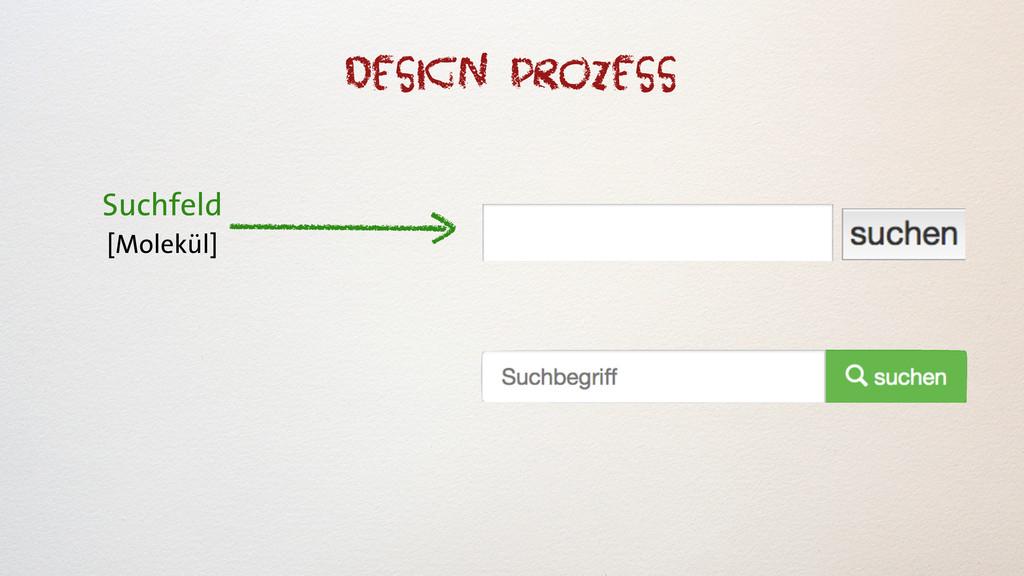 Suchfeld [Molekül] Design Prozess