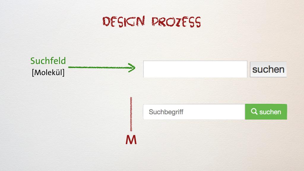 Suchfeld [Molekül] M Design Prozess