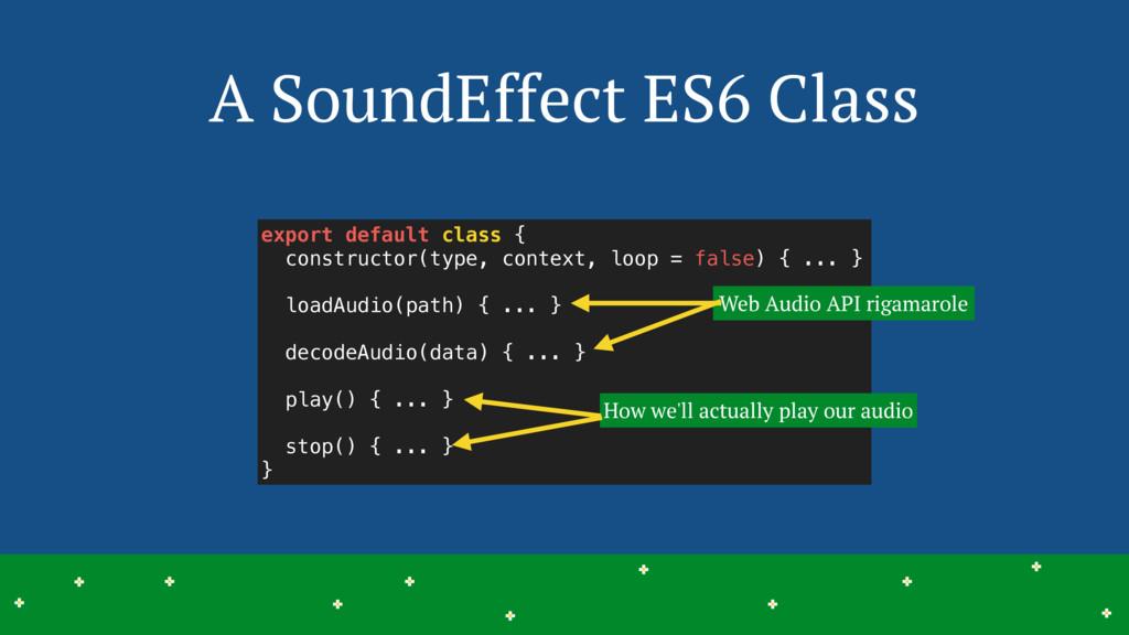 A SoundEffect ES6 Class 25 > > > > > > > > > > ...