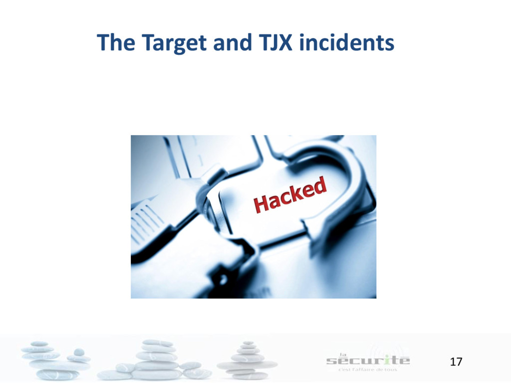 17 The Target and TJX incidents