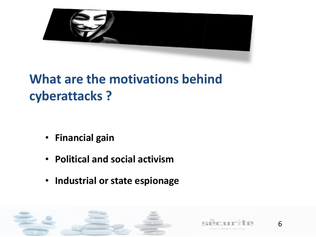 6 What are the motivations behind cyberattacks ...