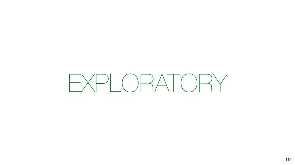 EXPLORATORY 116