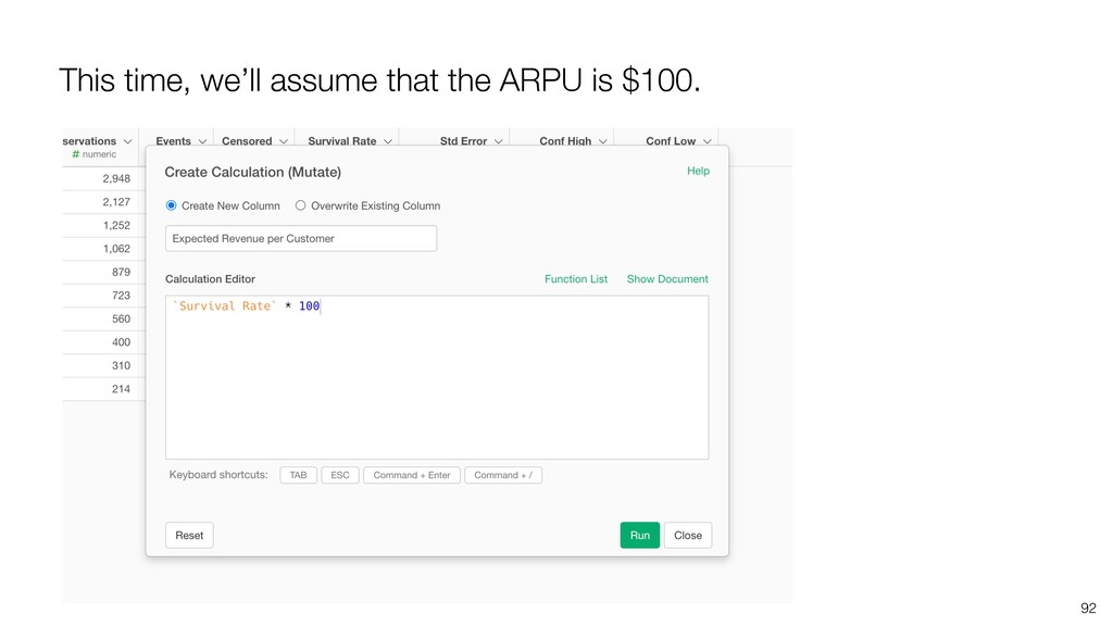 This time, we'll assume that the ARPU is $100. ...