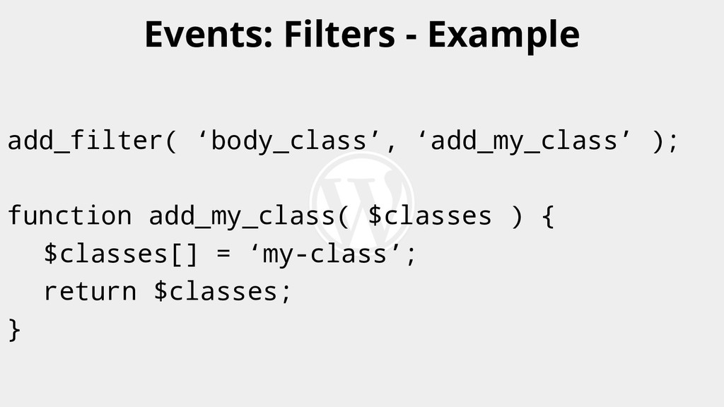 add_filter( 'body_class', 'add_my_class' ); fun...