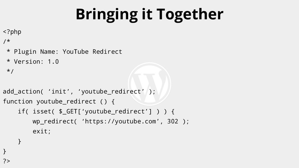 <?php /* * Plugin Name: YouTube Redirect * Vers...
