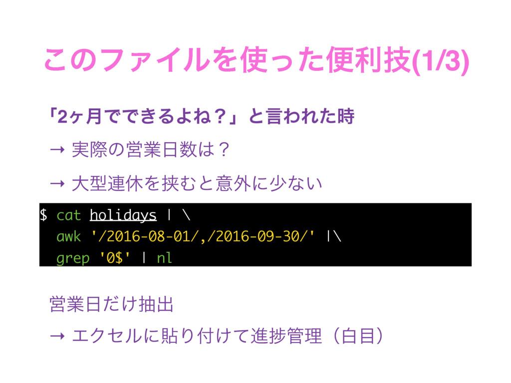 ͜ͷϑΝΠϧΛͬͨศརٕ(1/3) ʮ2ϲ݄ͰͰ͖ΔΑͶʁʯͱݴΘΕͨ → ࣮ࡍͷӦۀ...