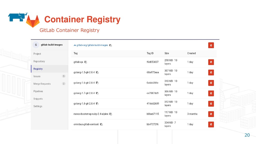 20 Container Registry GitLab Container Registry
