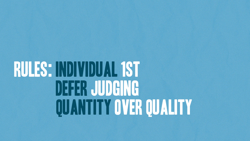rules: Individual 1st defer judging quaNTITY ov...