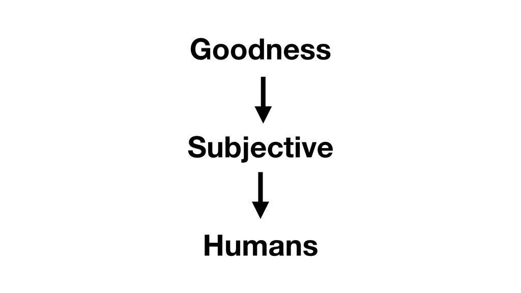 Goodness Humans Subjective