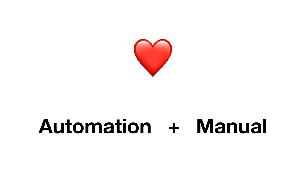❤ Automation Manual +