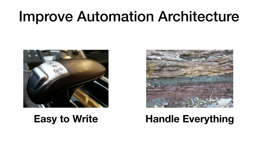 Improve Automation Architecture Easy to Write H...