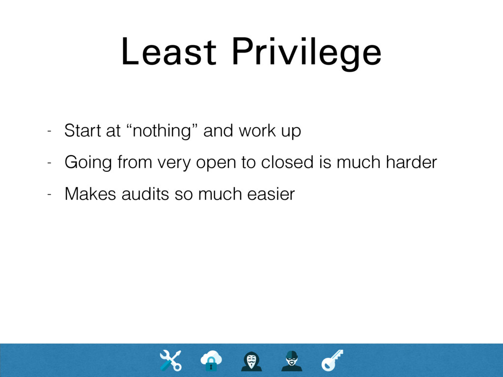 """Least Privilege - Start at """"nothing"""" and work u..."""
