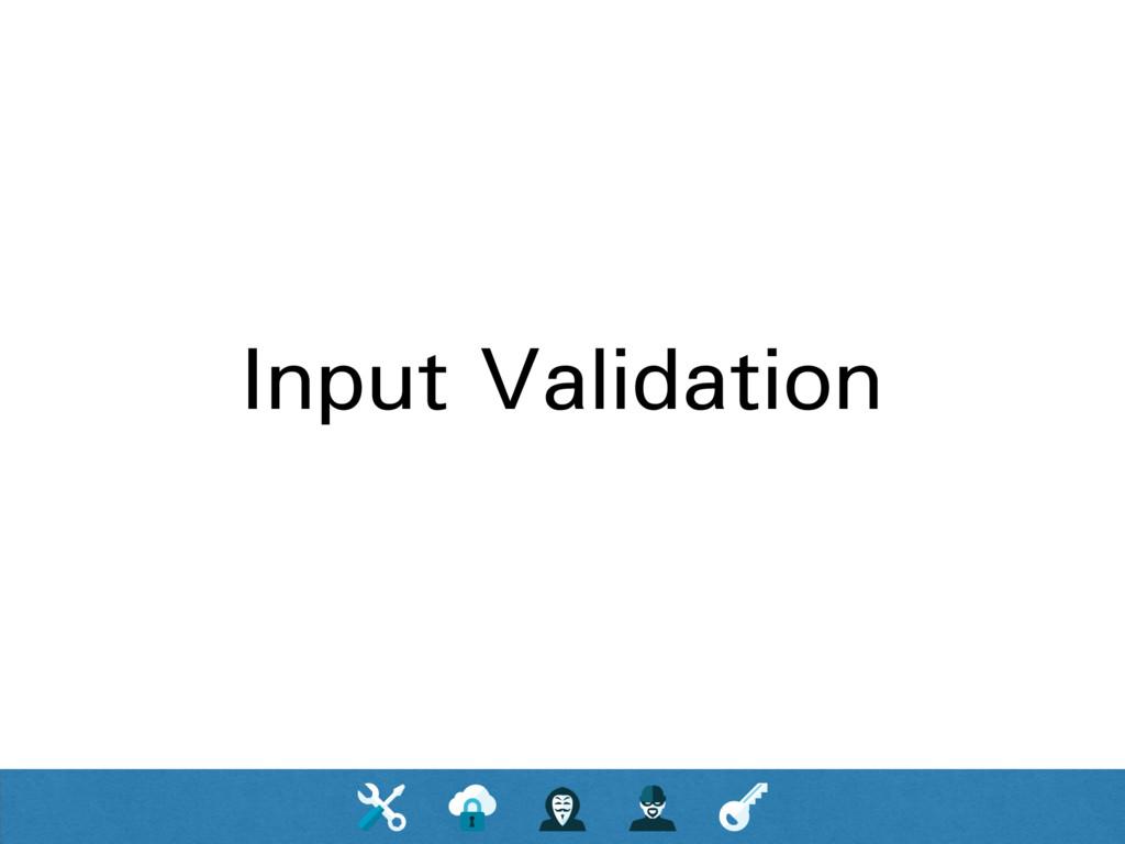 Input Validation