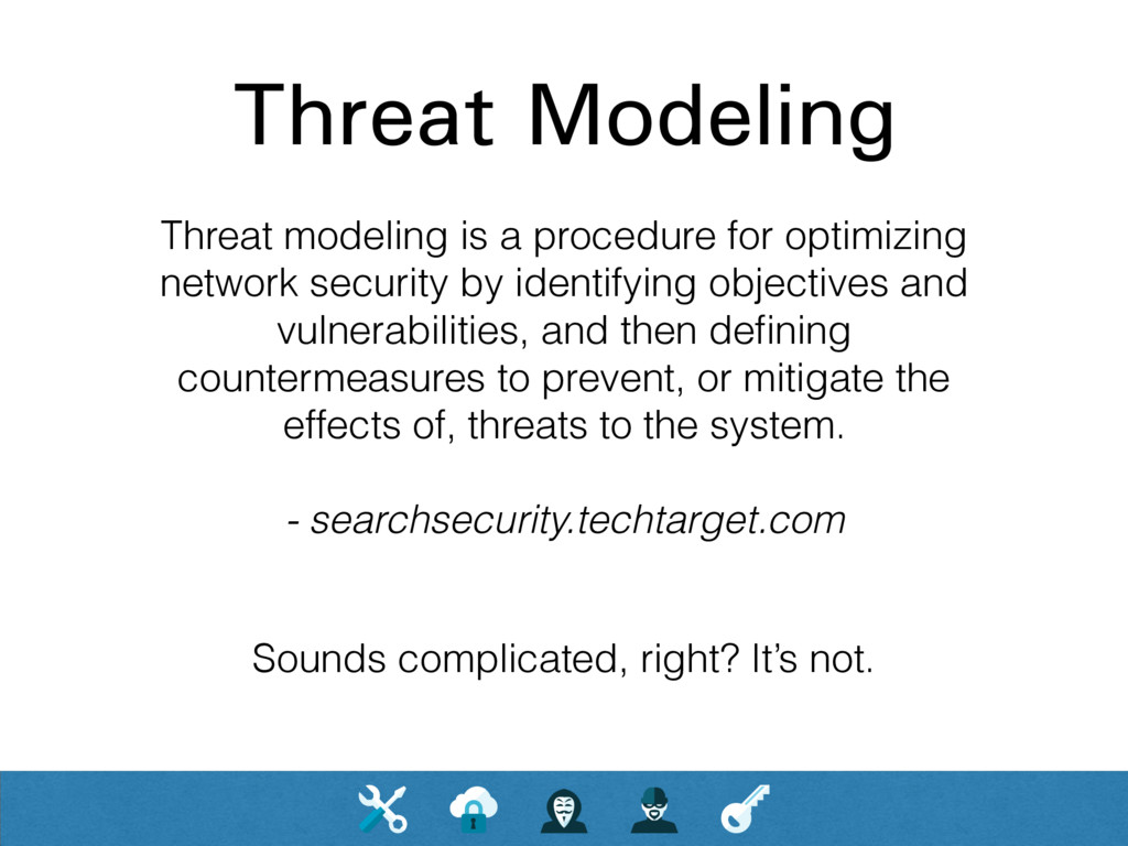 Threat Modeling Threat modeling is a procedure ...