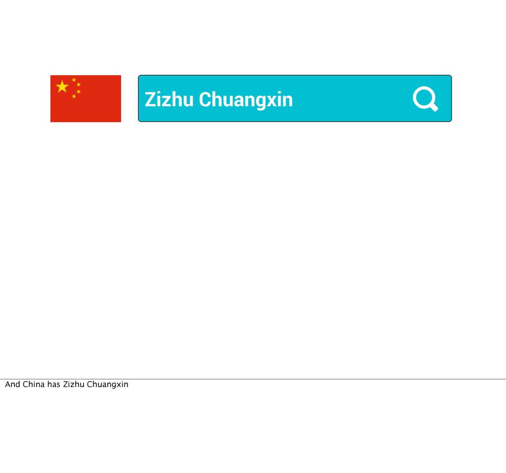 Zizhu Chuangxin And China has Zizhu Chuangxin