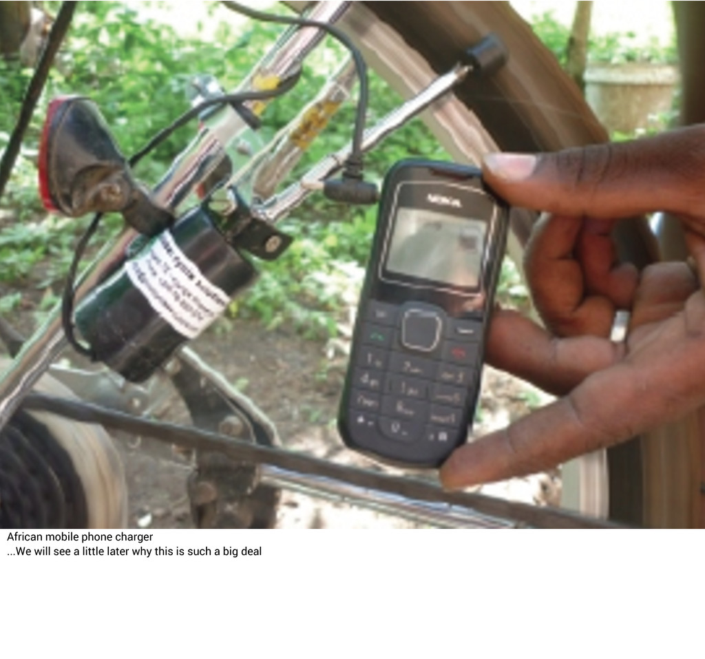 African mobile phone charger ...We will see a l...