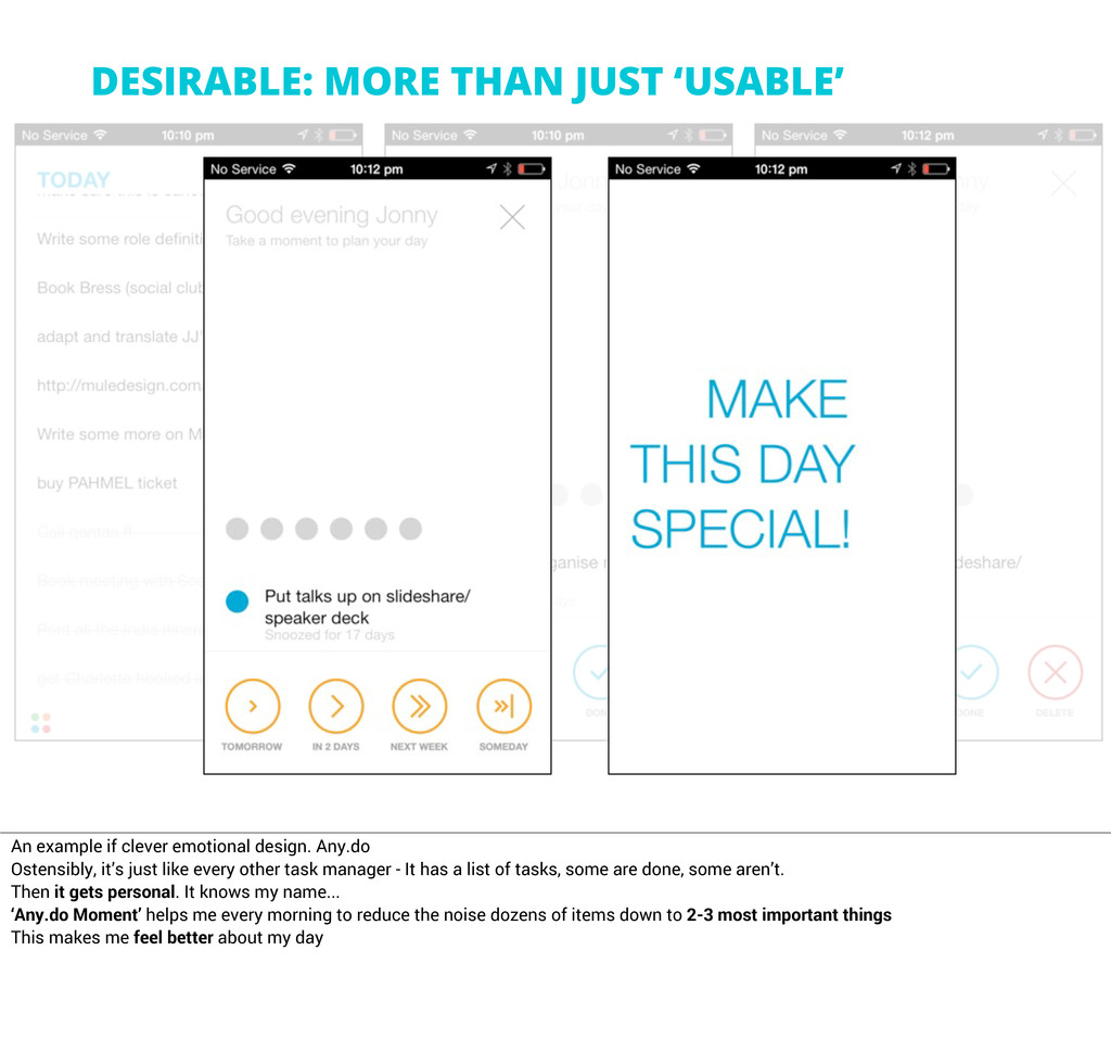 DESIRABLE: MORE THAN JUST 'USABLE' An example i...