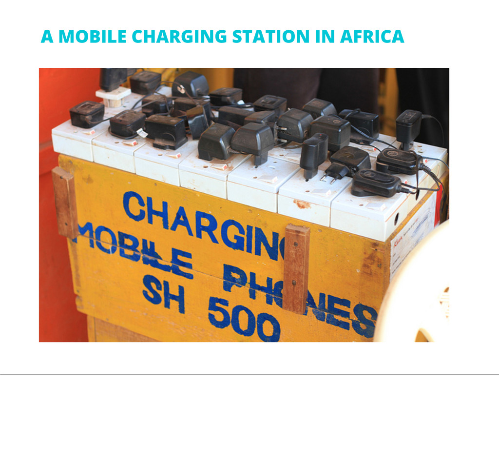 A MOBILE CHARGING STATION IN AFRICA