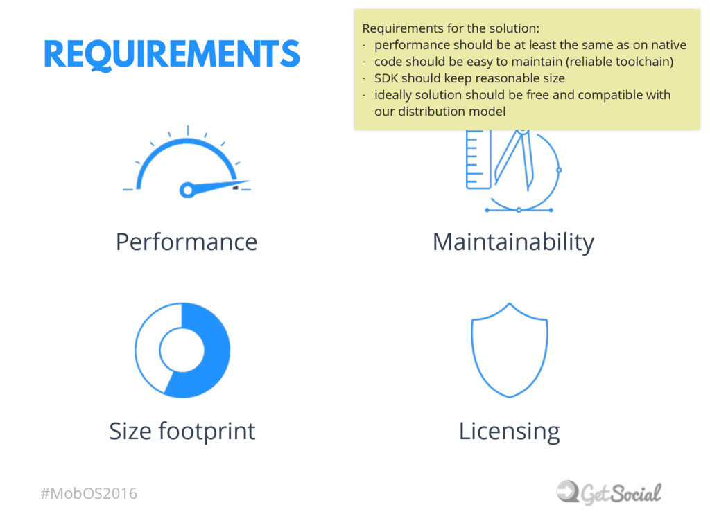 #MobOS2016 REQUIREMENTS Maintainability Perform...