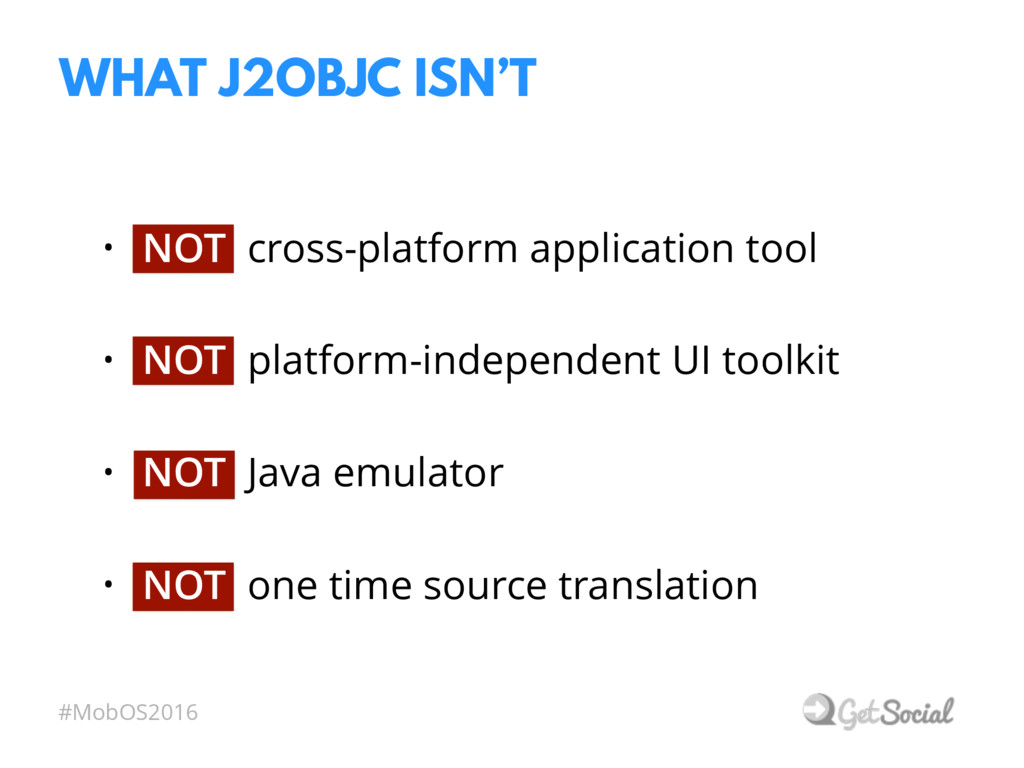 #MobOS2016 • NOT cross-platform application too...