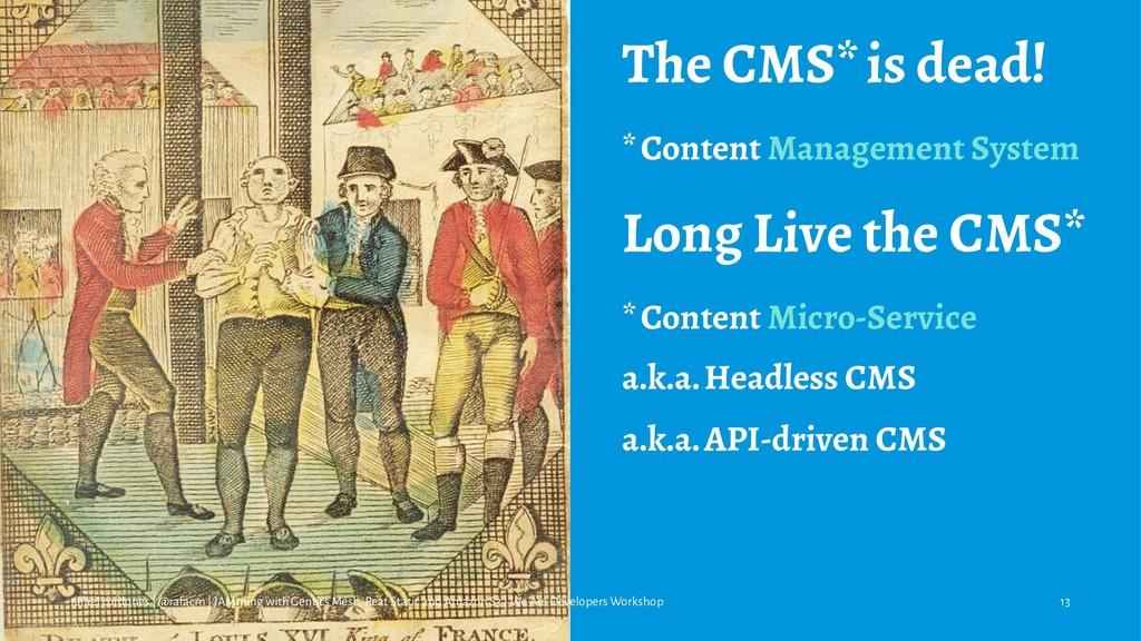 The CMS* is dead! * Content Management System L...