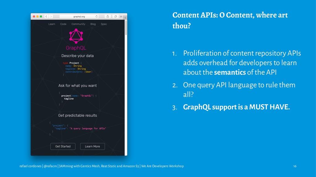 Content APIs: O Content, where art thou? 1. Pro...