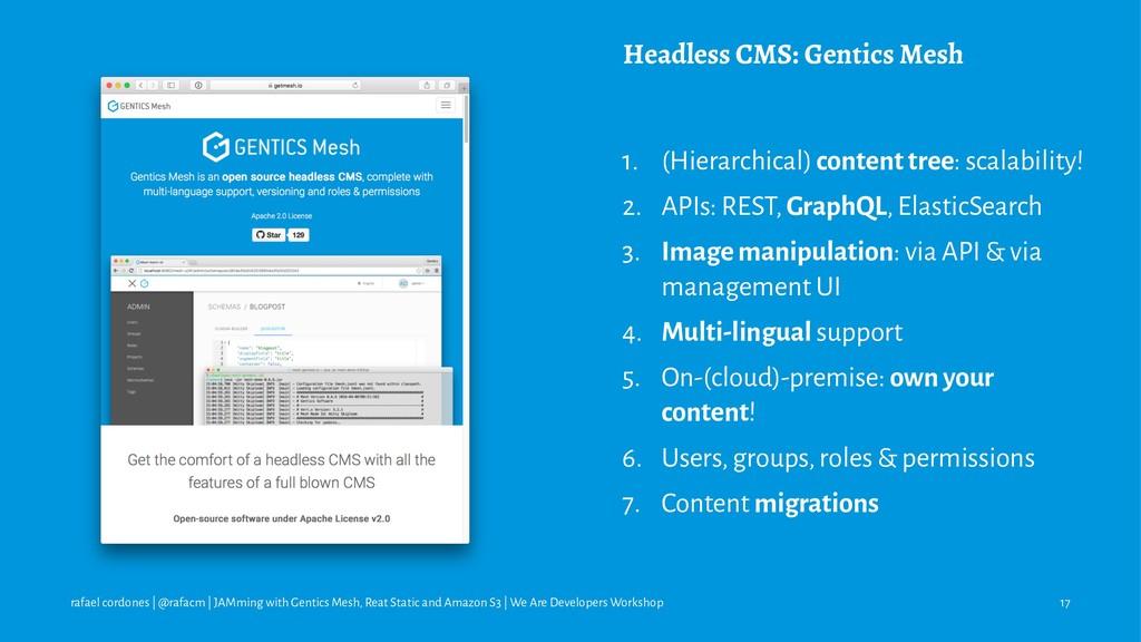 Headless CMS: Gentics Mesh 1. (Hierarchical) co...