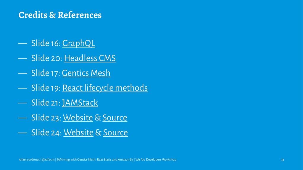 Credits & References — Slide 16: GraphQL — Slid...