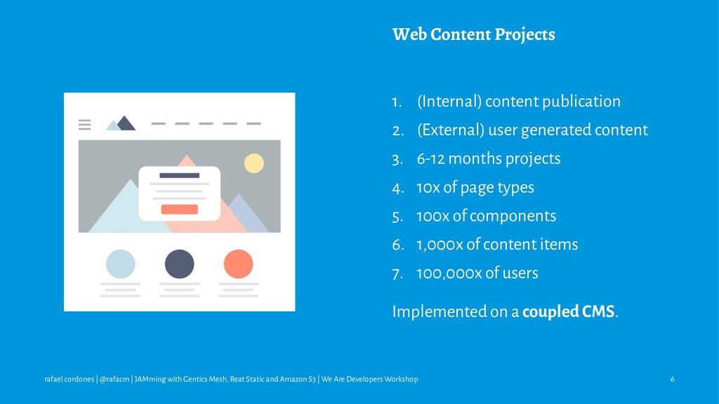 Web Content Projects 1. (Internal) content publ...