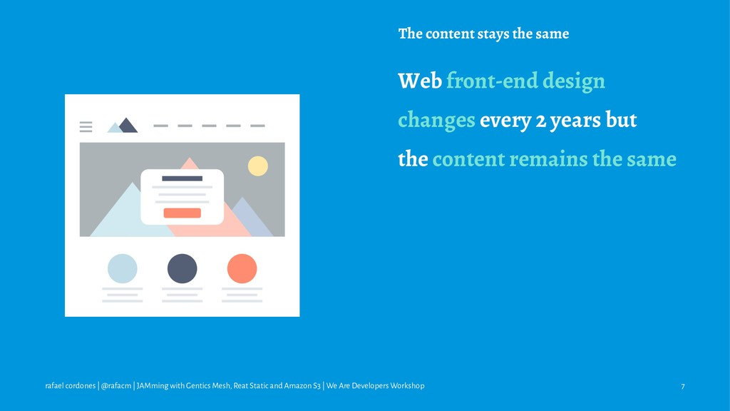The content stays the same Web front-end design...