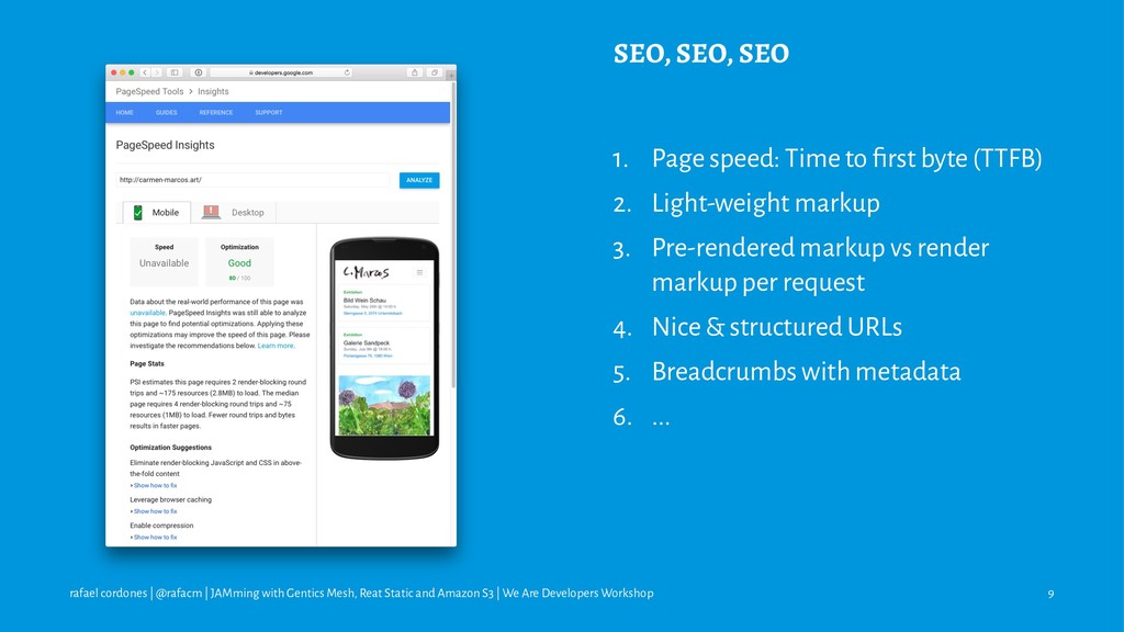SEO, SEO, SEO 1. Page speed: Time to first byte ...