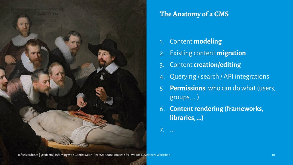 The Anatomy of a CMS 1. Content modeling 2. Exi...