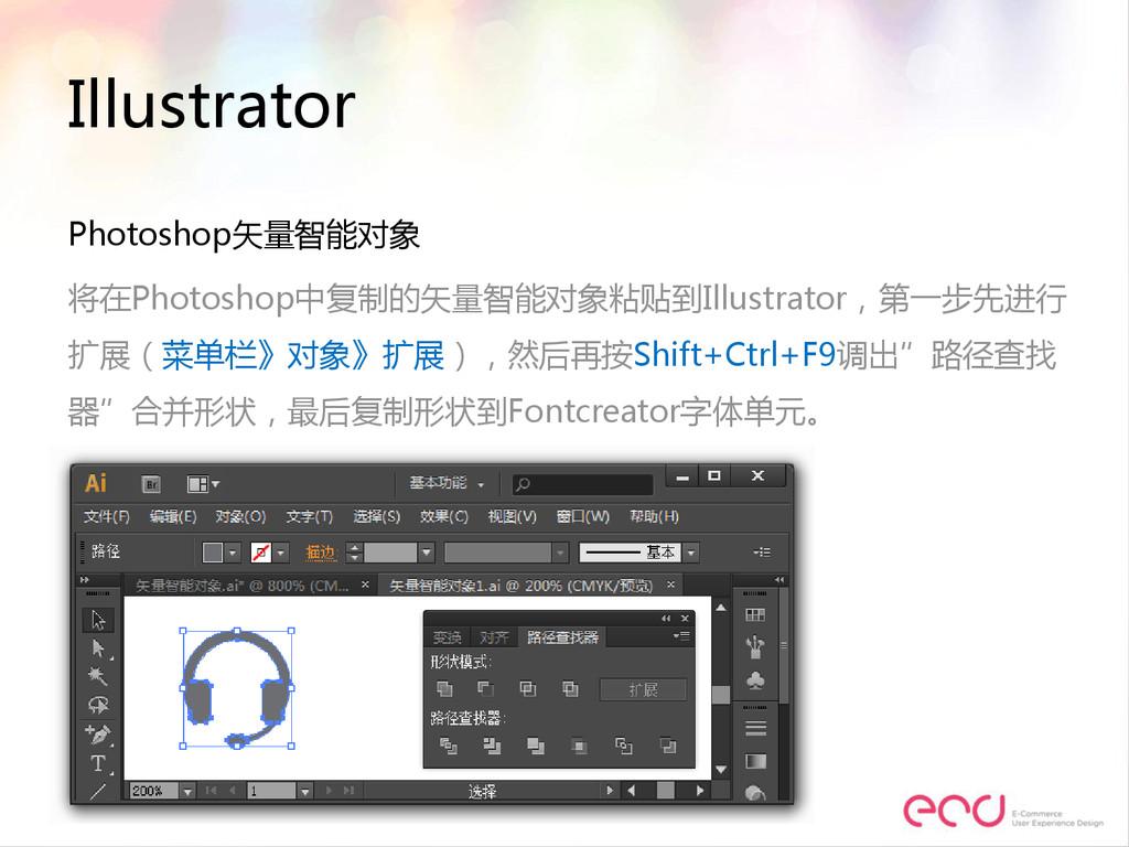 Illustrator Photoshop矢量智能对象 将在Photoshop中复制的矢量智能...