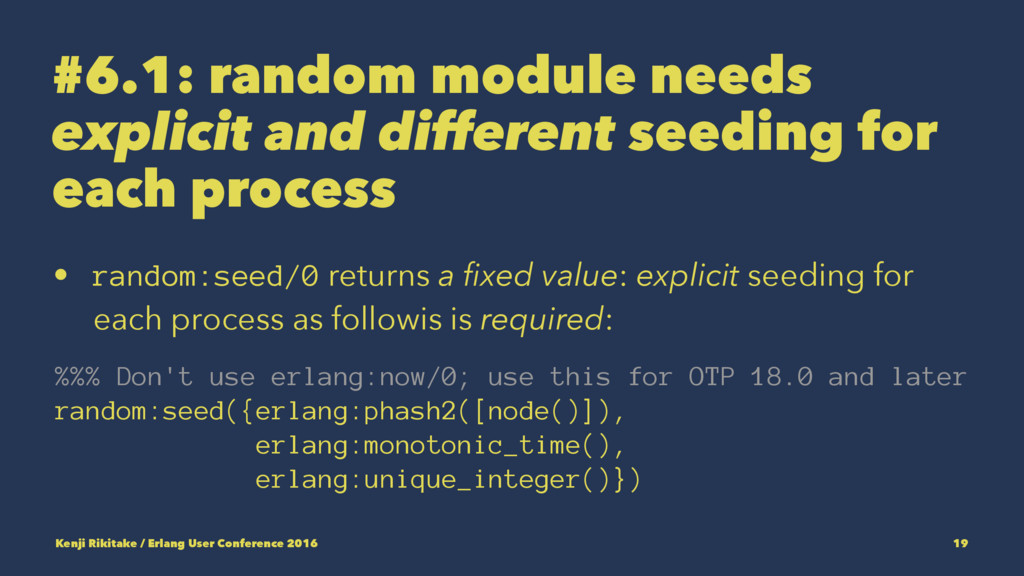 #6.1: random module needs explicit and differen...