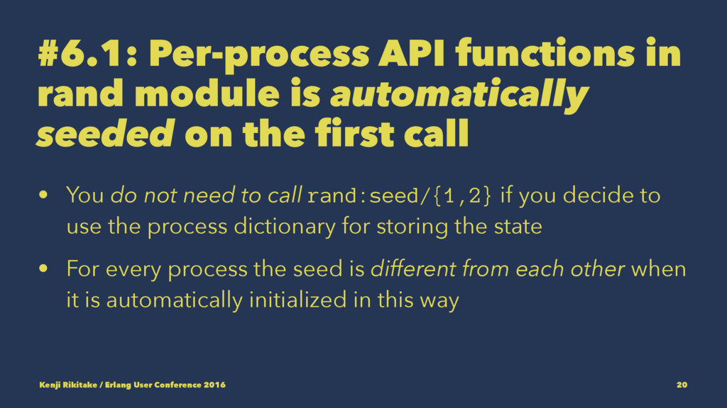 #6.1: Per-process API functions in rand module ...