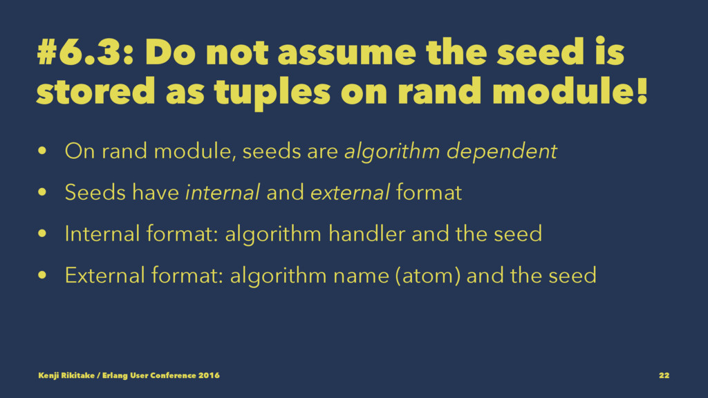 #6.3: Do not assume the seed is stored as tuple...