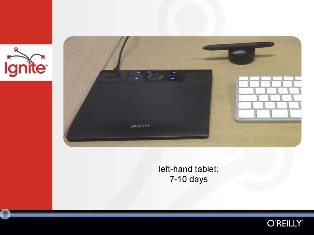left-hand tablet: 7-10 days
