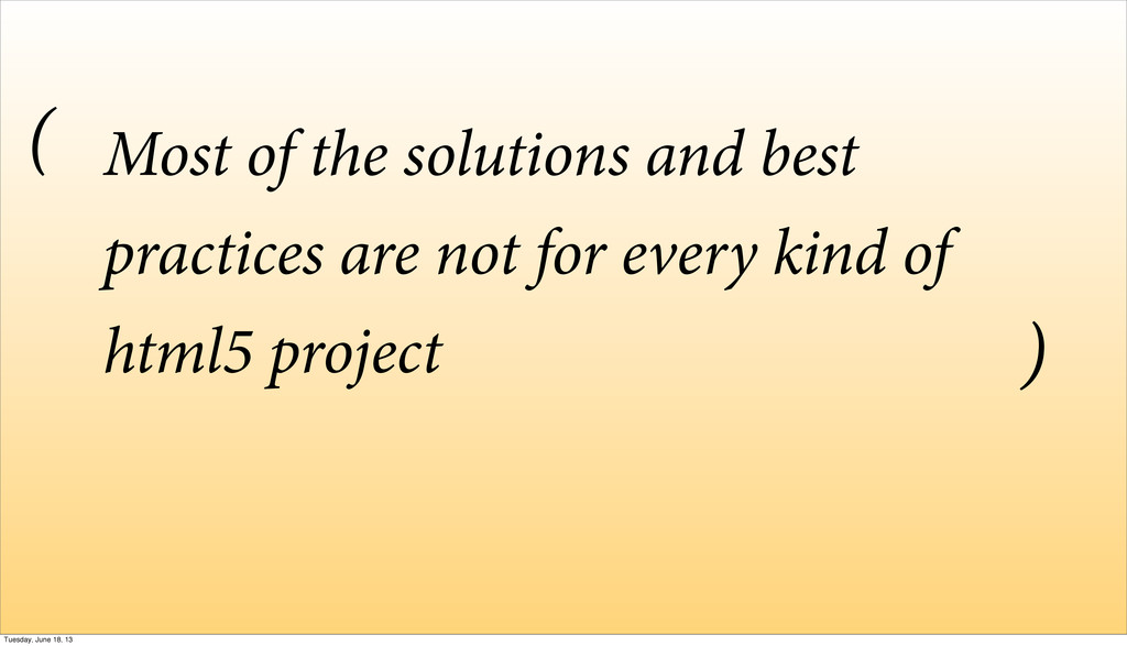 Most of the solutions and best practices are no...