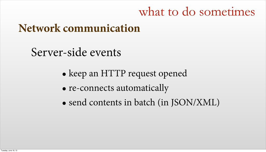 Network communication what to do sometimes Serv...