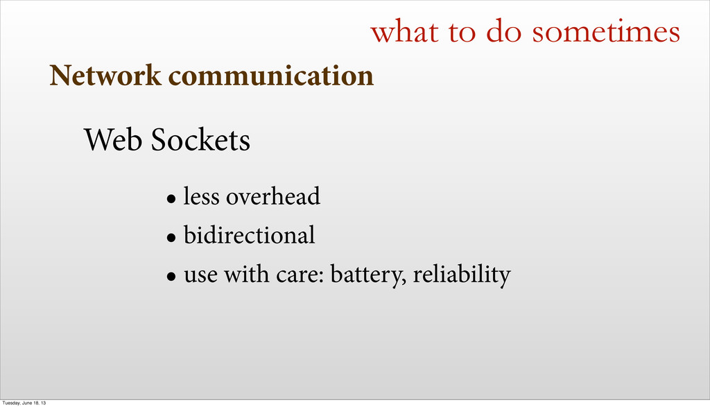 Network communication what to do sometimes Web ...