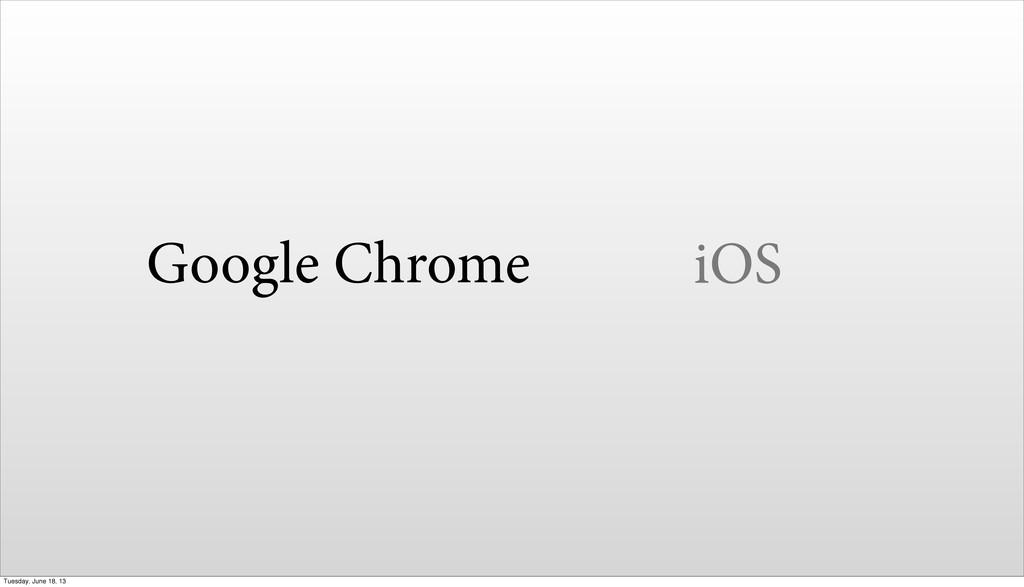 Google Chrome iOS Tuesday, June 18, 13