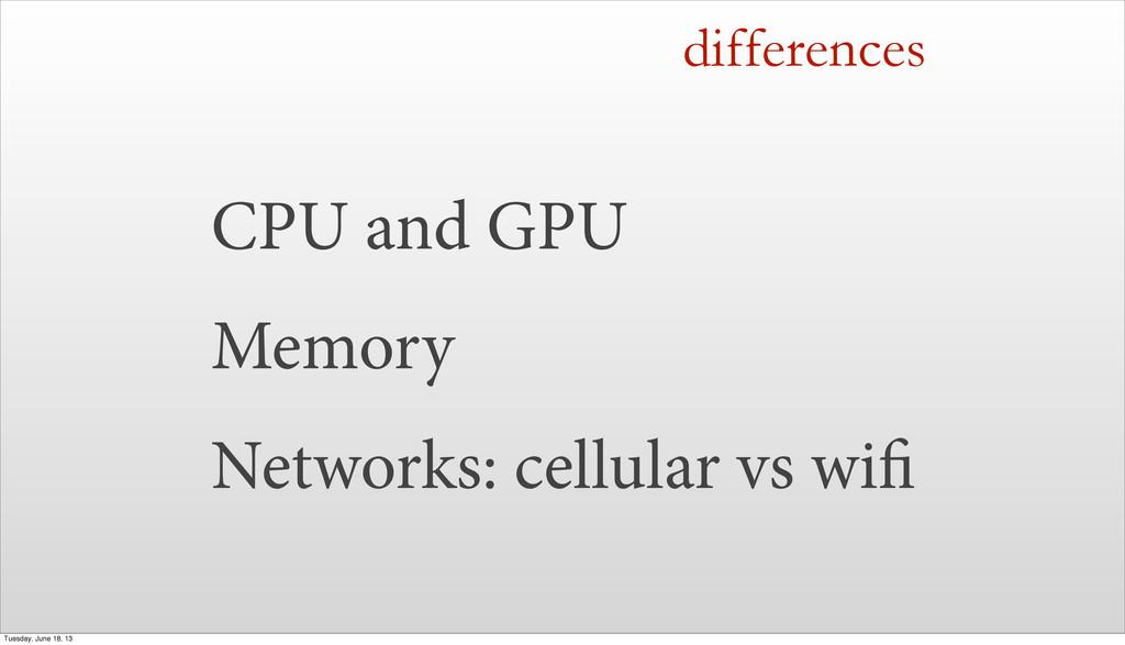 CPU and GPU Memory Networks: cellular vs wi dif...