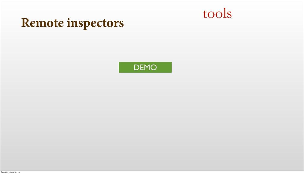 Remote inspectors tools DEMO Tuesday, June 18, ...