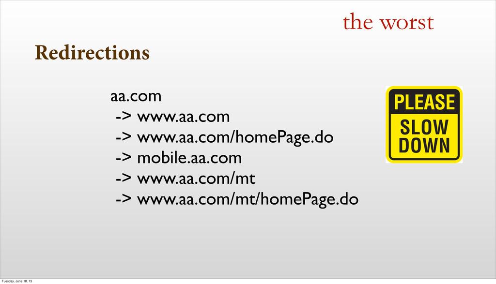 Redirections the worst aa.com -> www.aa.com -> ...