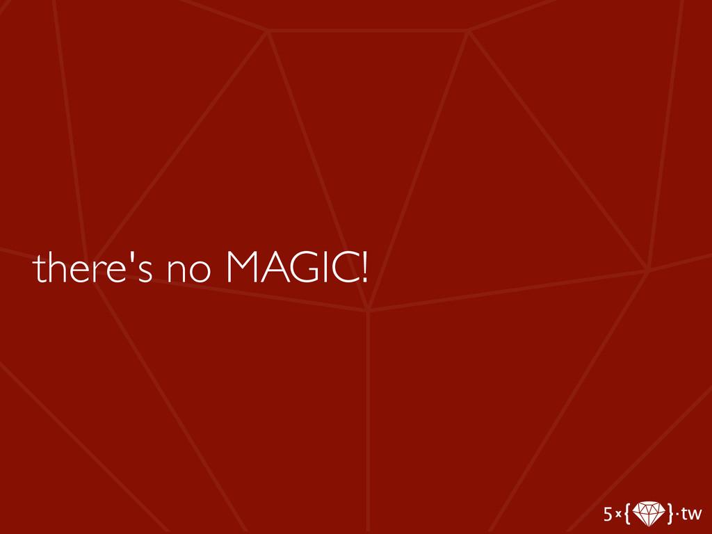 there's no MAGIC!
